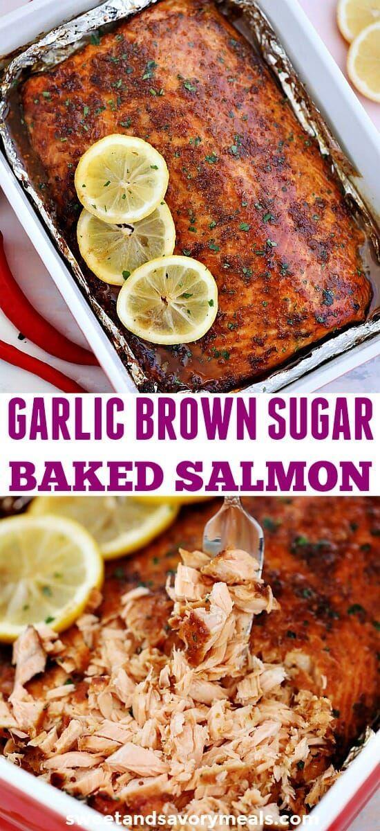 Knoblauch brauner Zucker glasierter Lachs ist erstaunlich würzig und ein ... -