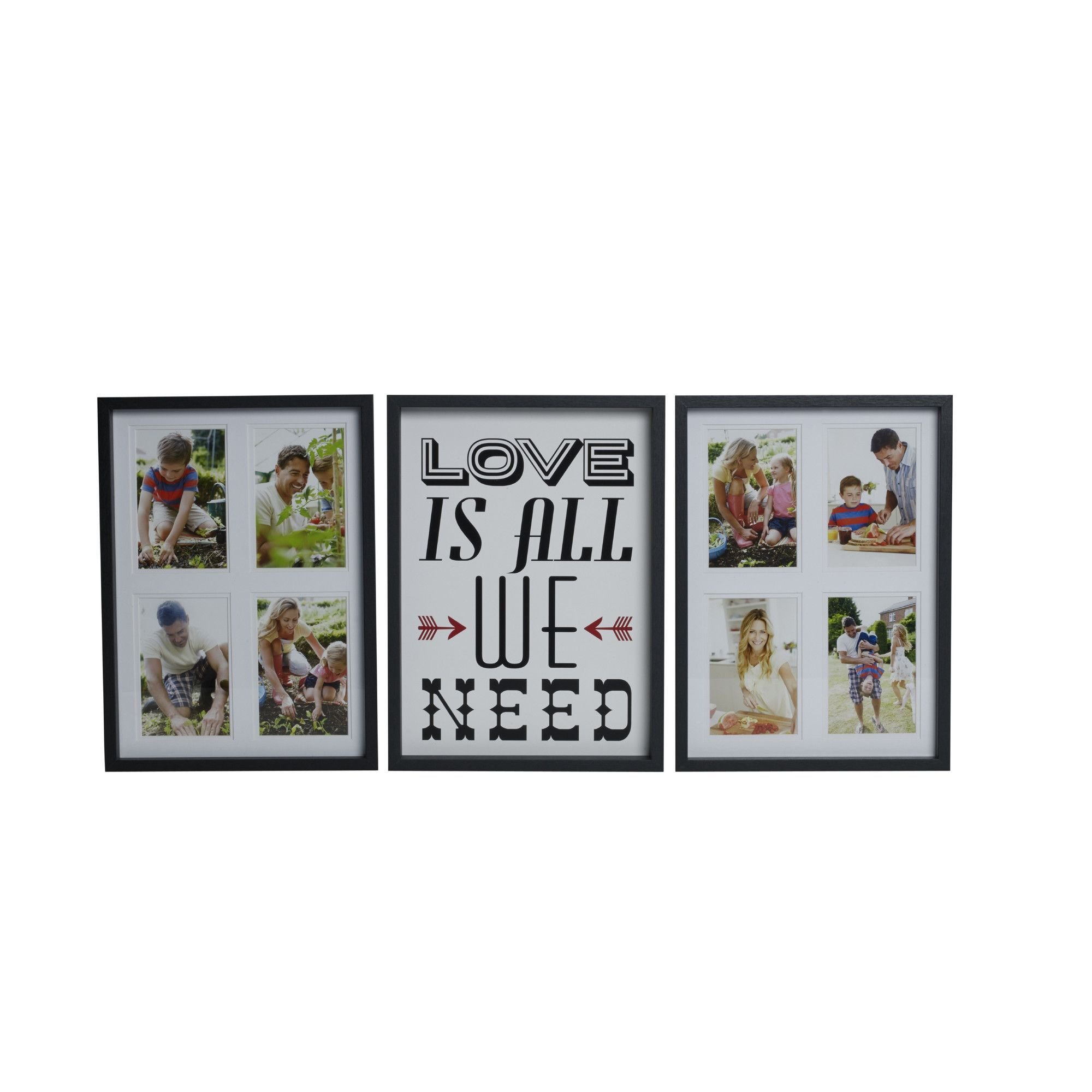 3 Piece Love Is All We Need Collage Frame Set Home Pinterest