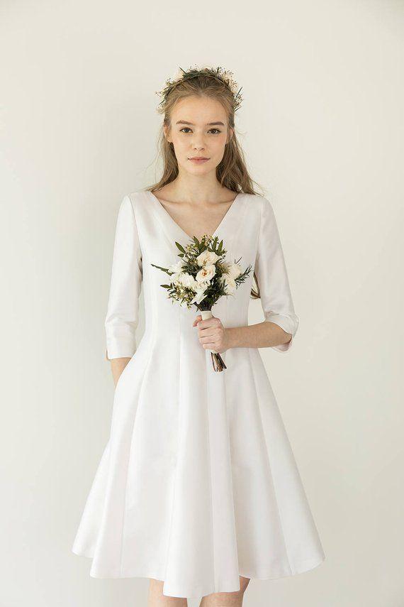 2e59cf1deee Lucia   Silk tea length wedding dress