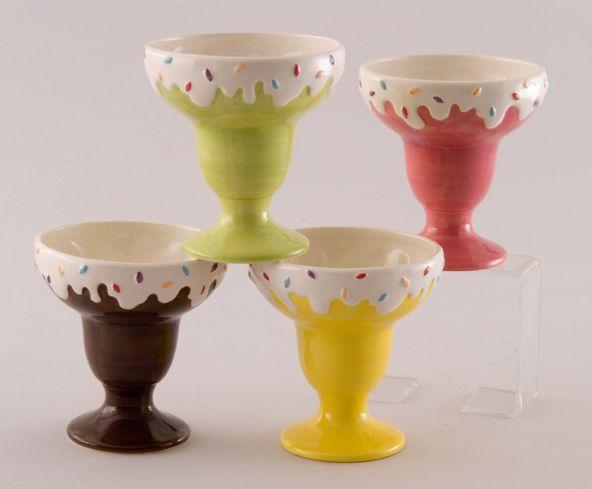 Vintage Waffle Cones Retro Ice Cream Bowls Retro Ice Cream Bowls Ice Cream Kitchen Decor Set of 4 Brown Vintage Ice Cream Bowls