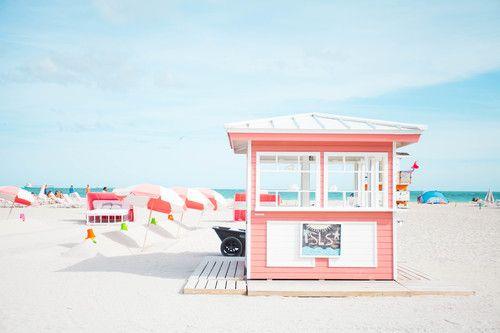 Sherbert beach colors.