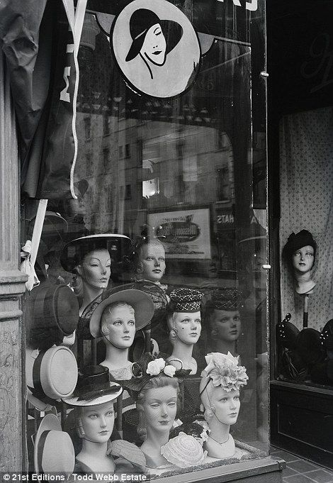 New York City As It Was Stunning Photographs From 1946 Vintage Millinery Vintage Mannequin Hats Vintage