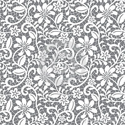 Seamless white lace Royalty Free Vector Image - VectorStock   400x400