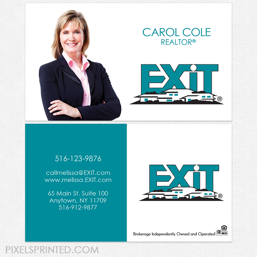 Exit business cards business cards exit cards realtor business exit business cards colourmoves Image collections