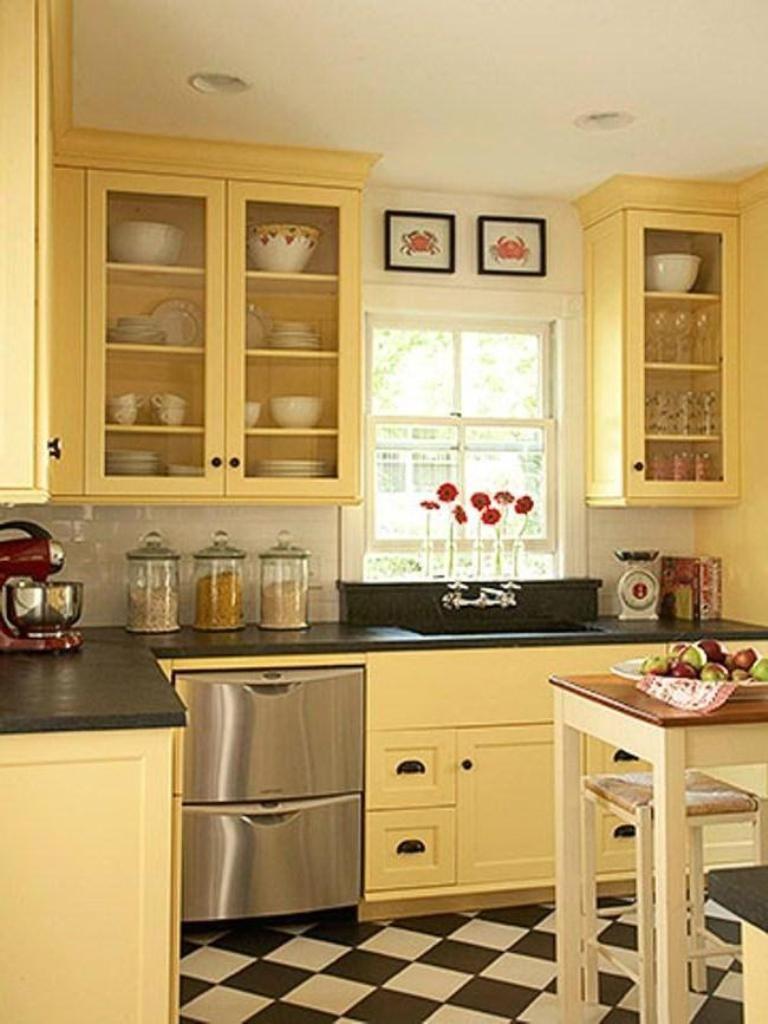 The Best Kitchen Colourbinations for Retro Kitchen Ideas Black. Yellow And Grey Kitchen Ideas. 1277 House Kitchen Onlittle. 2507 Kitchen Ideas Onfarmhouse