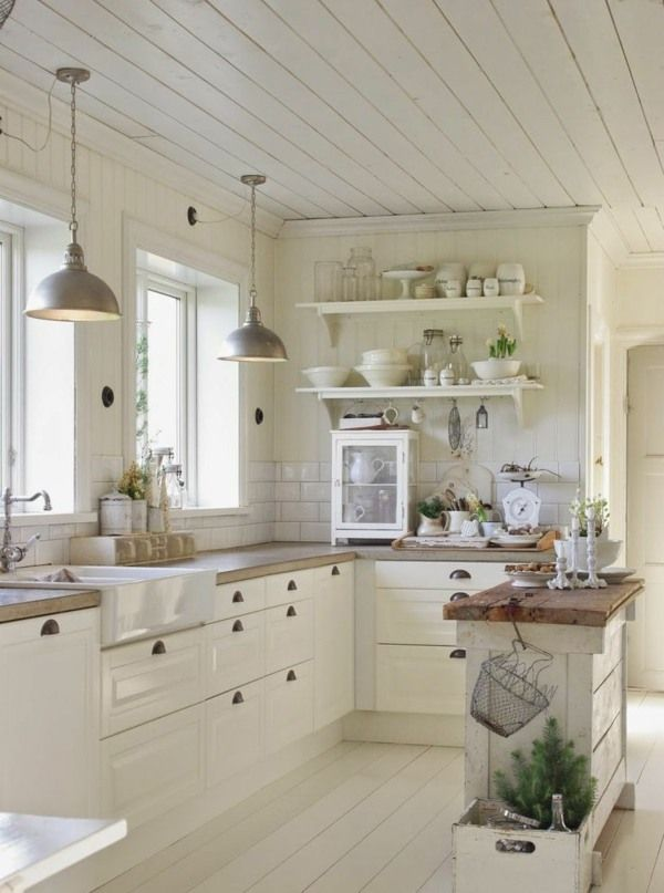 Beau Decoration Cuisine Blanche #8: Concevoir Une Décoration De Cuisine Campagnarde Et élégante