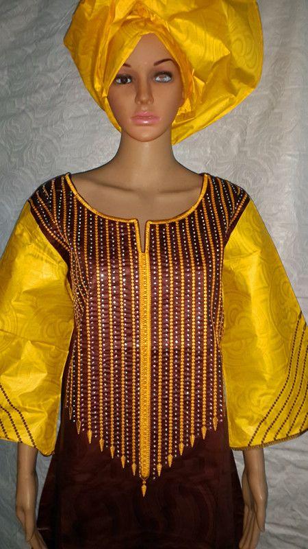 2015 New Fashion Design African Bazin Riche Embroidery