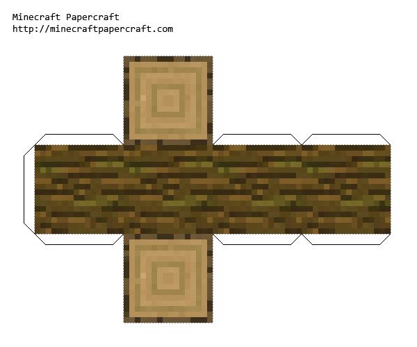 [7+] Minecraft Papercraft Block Wood