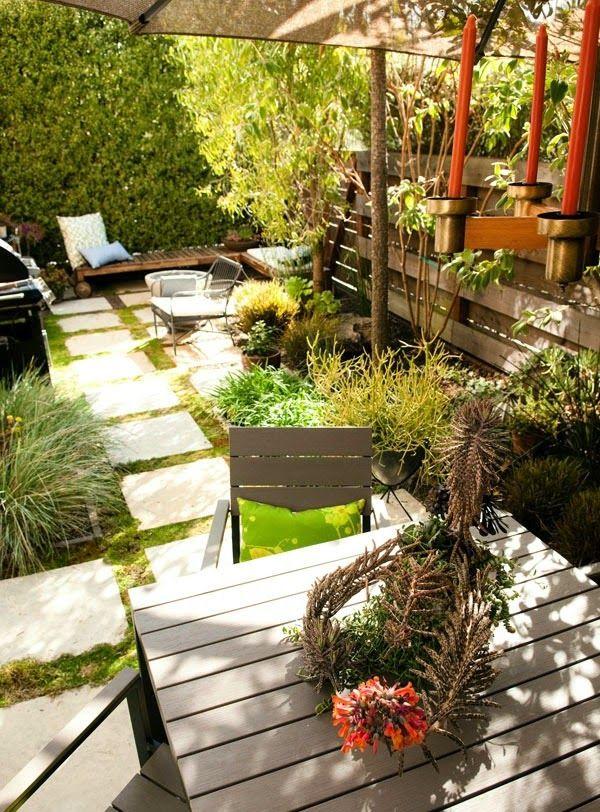 Decoracion de patios pequenos y estrechos test 13 pinterest decoraci n de patio peque o for Decoracion patios pequenos