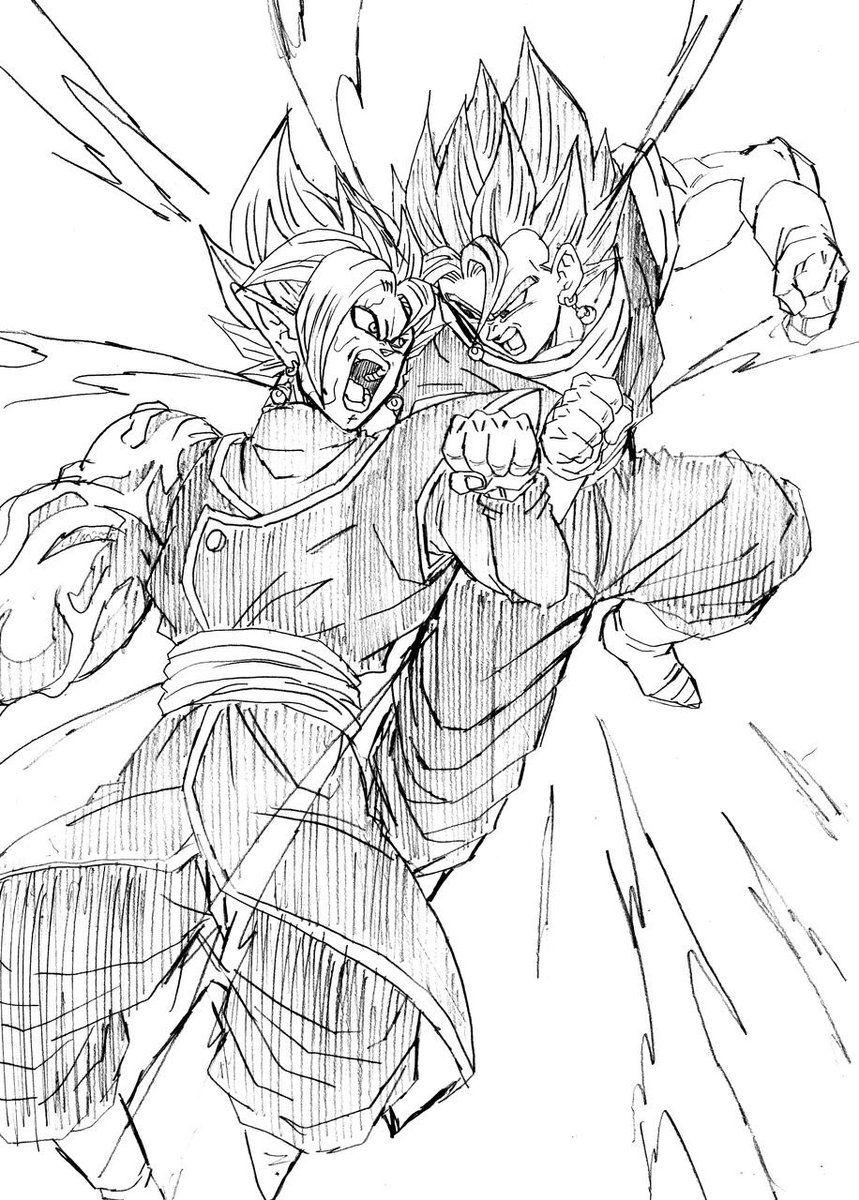 Zamasu Fusi 243 N Vs Vegetto Dragon Ball Manga Pinterest