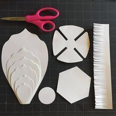 Paper Flower Template with Video Instruction, PDF and SVG, Digital download