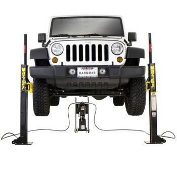 Dannmar MaxJax™ 2-post Portable Auto Lift | Portable car ...