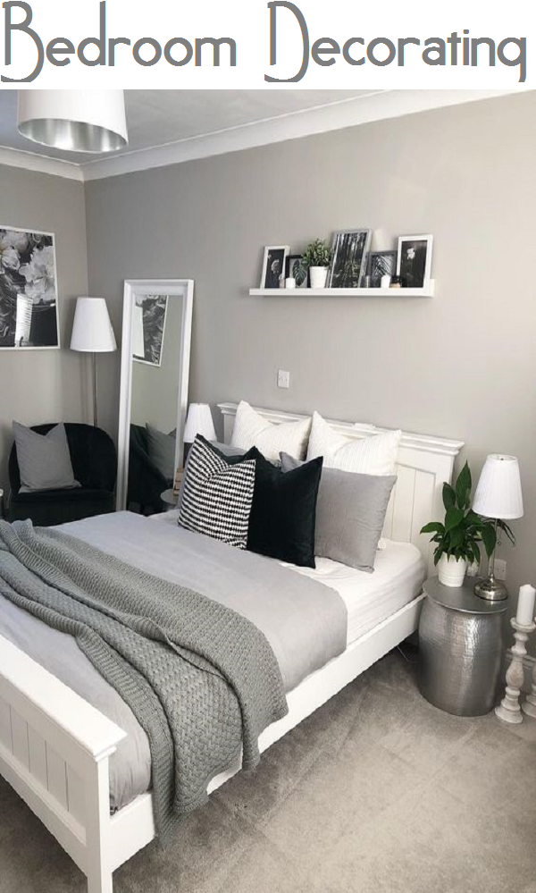 Decorate Your Bedroom With This Black White And Grey Decor
