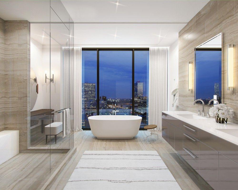 Take A Look At This Luxury Condominium In The Heart Of Houston Houston Apartment Bathroom Interior Design Luxury Apartments