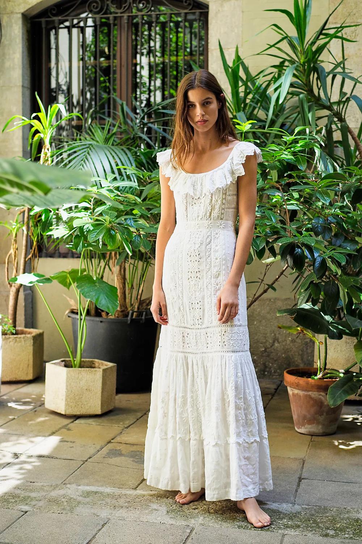 Niko Dress White Lace Maxi Dress White Boho Dress White Dress [ 1500 x 1000 Pixel ]