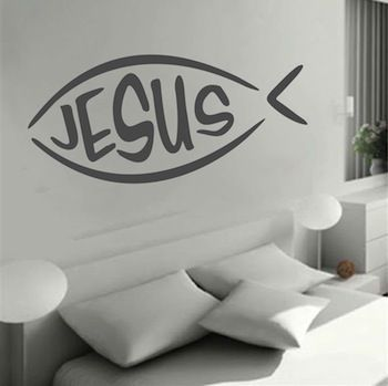 Jesus Fish Wall Decal A (350×349)