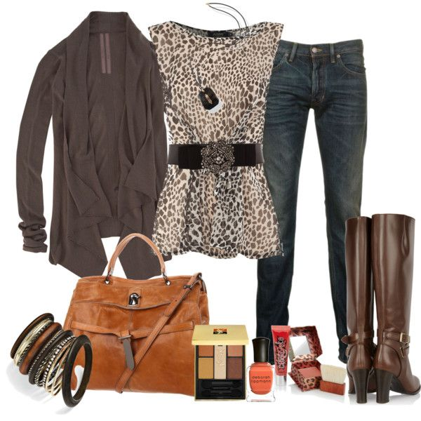 littlebit of leopard, created by marnifox on Polyvore