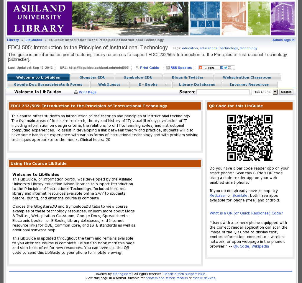 Edci 232 This Guide Is An Information Portal Featuring Library