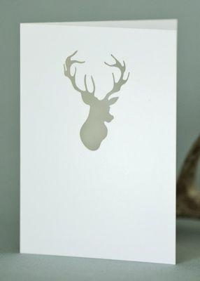 Plane Paper Card Deer Head