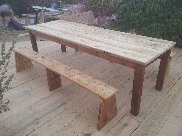 Garden Furniture Made From Scaffolding Planks table made from scaffold boards - google search | garden