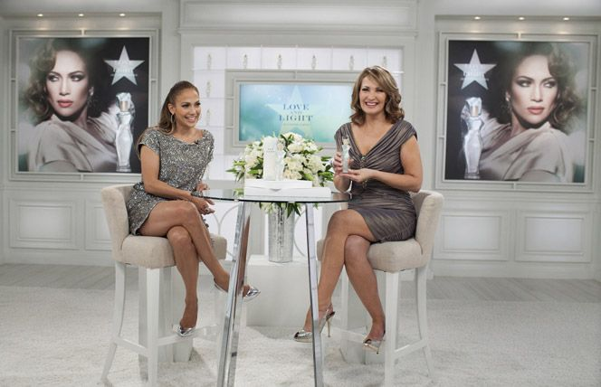 Colleen Lopez and Jennifer Lopez on the set of HSN