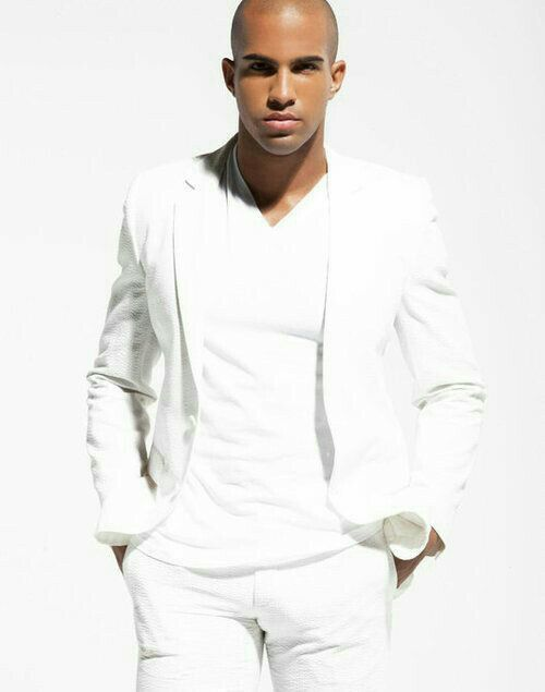 07 white jacket, trousers and a white top - Styleoholic | Men's ...