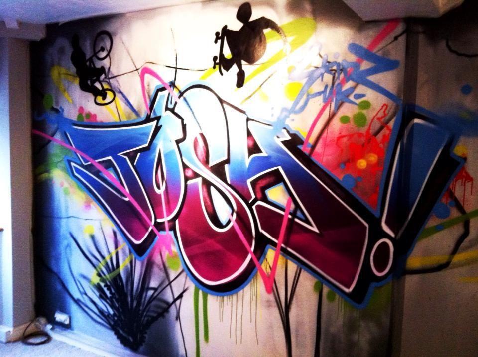 die besten 25 graffiti f r die wohnung ideen auf. Black Bedroom Furniture Sets. Home Design Ideas