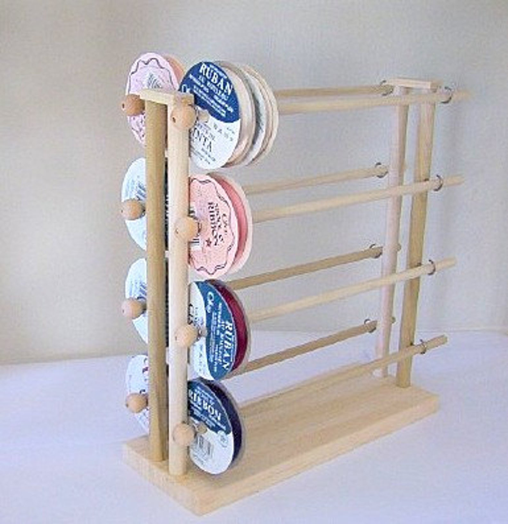 Super Ribbon Spool Holder Wire Dispenser Storage Rack Organizer
