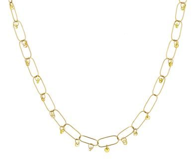 Mallary Marks - Yellow Sapphire Dangle Chain Necklace in Designers Mallary Marks Necklaces at TWISTonline