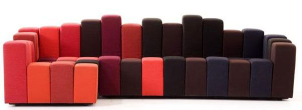 Weird Couches creative design weird couches and unusual ideas: red orange weird