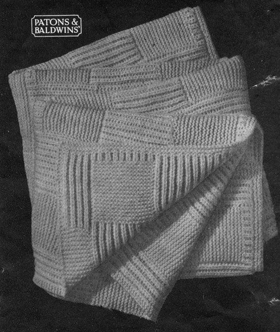 Free Knitting Pattern: Norfolk Cot Blanket or Blanket ...