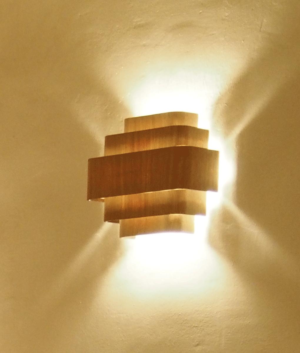 Wengé Applique Bois Lampe; Murale Made France Finition Chêne In Ou N0vm8wyOn