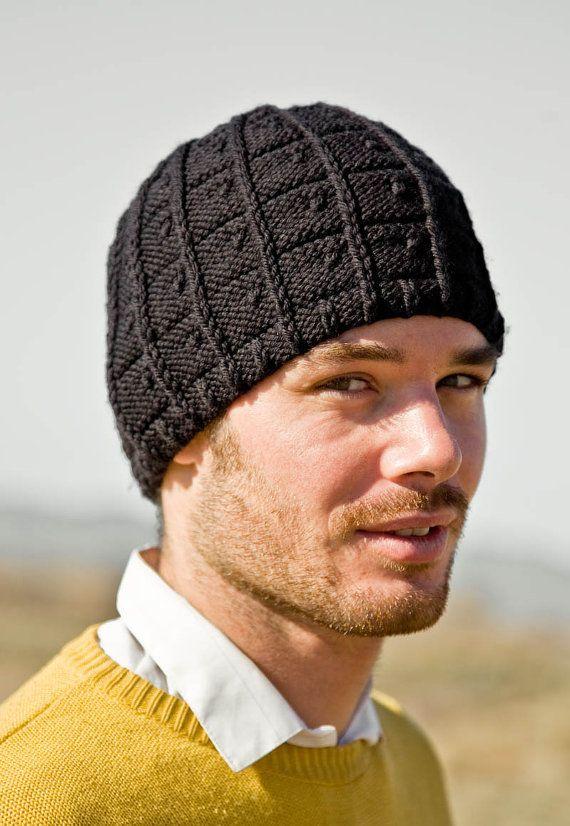 71403d7930e Men s Hat Knitting Pattern J.T. Pattern PDF by Woolibear on Etsy ...