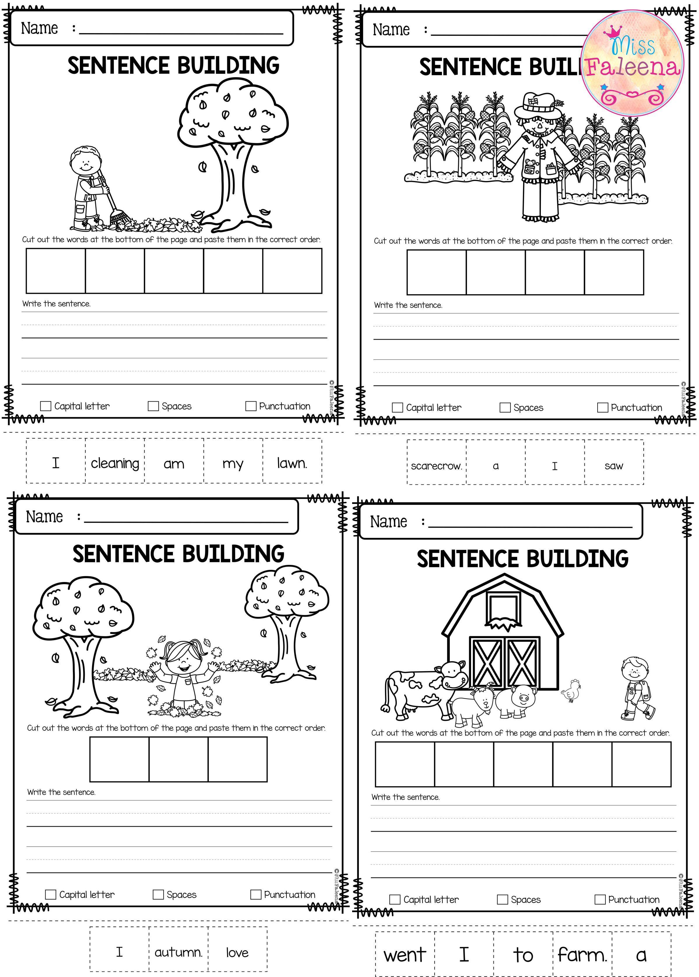 September Sentence Building