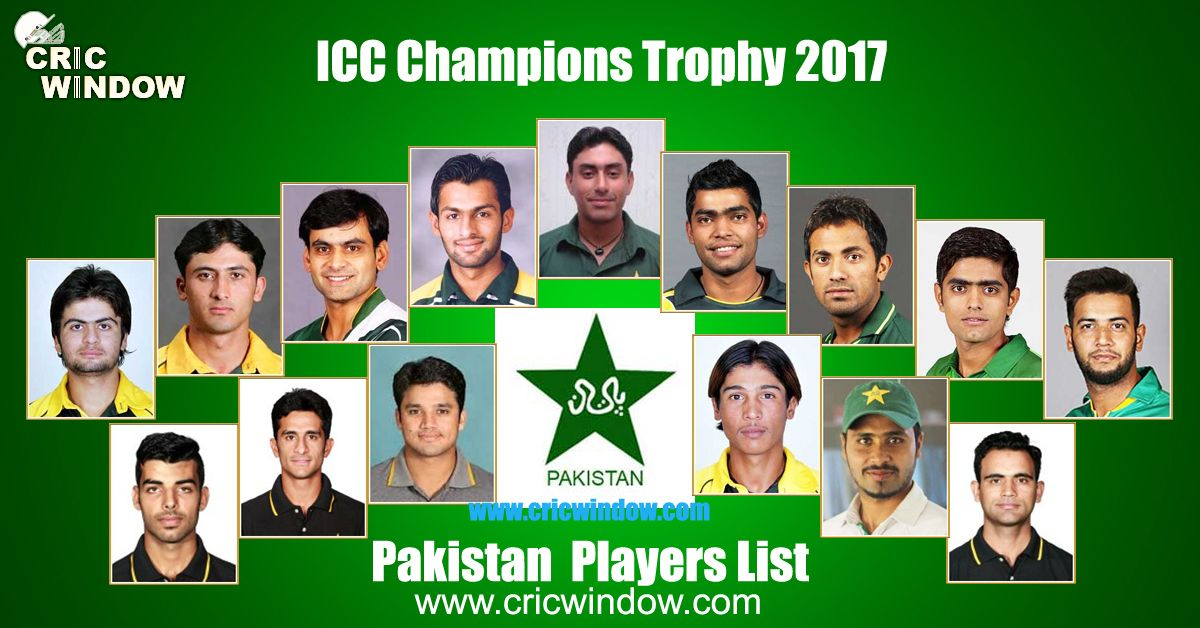 Pakistan Champions Trophy Squad Cricwindow