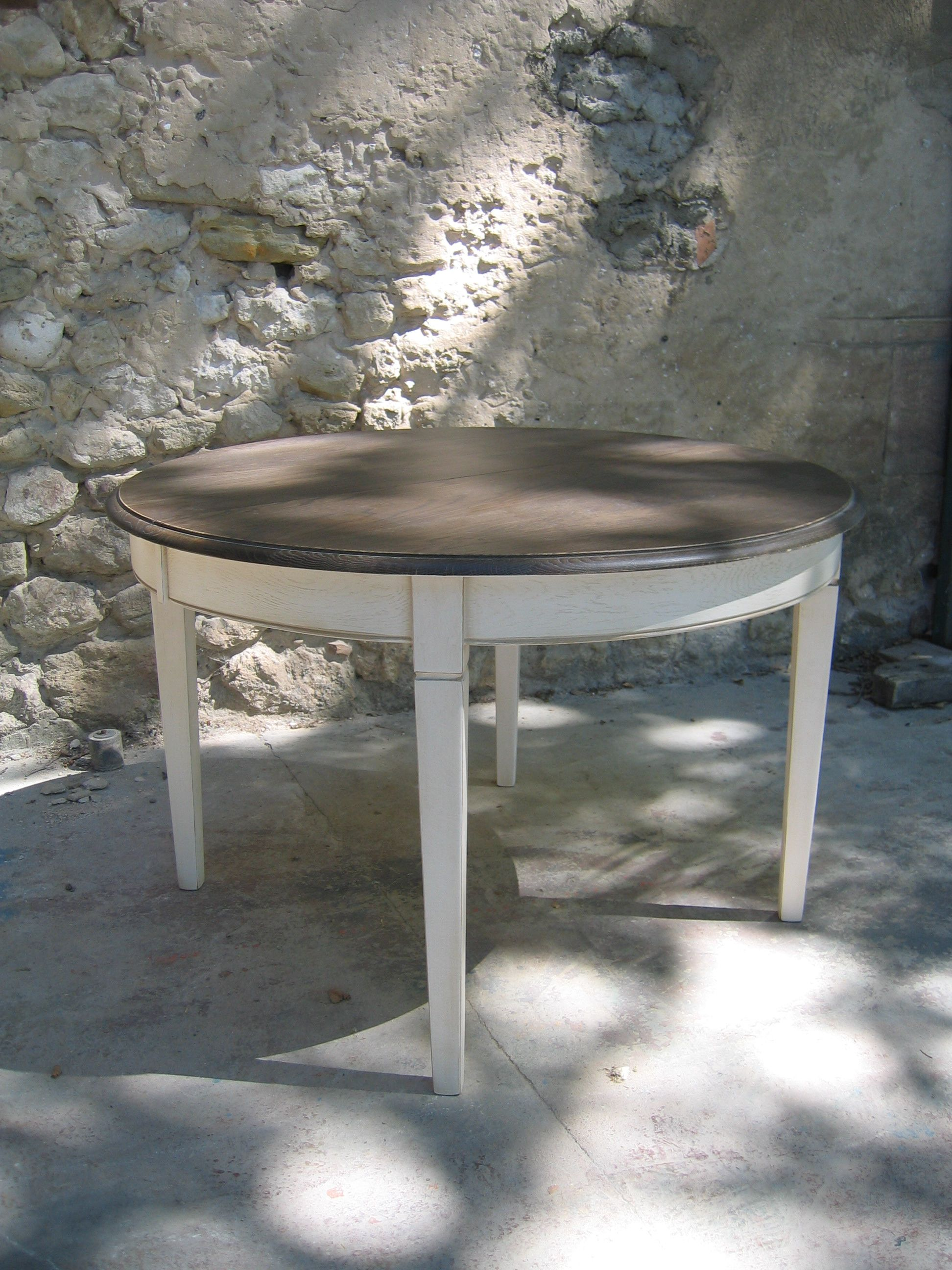 Table Ronde Extensible En Chêne Massif. Table De Repas