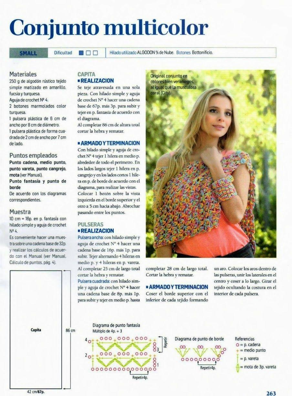 Crochet y Dos agujas | crochet | Pinterest | Patrón de capa, Pulsera ...