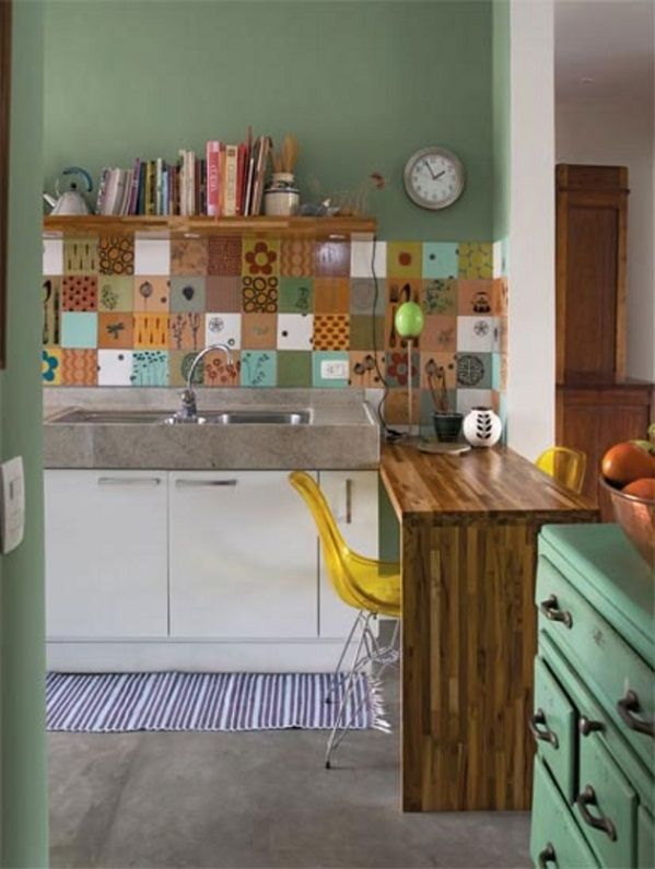Azulejos: combinación de colores y motivos para la zona del ...