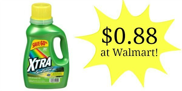 graphic about Xtra Laundry Detergent Printable Coupon identify Walmart: Xtra Laundry Detergent Merely $0.98! Savings Discovered