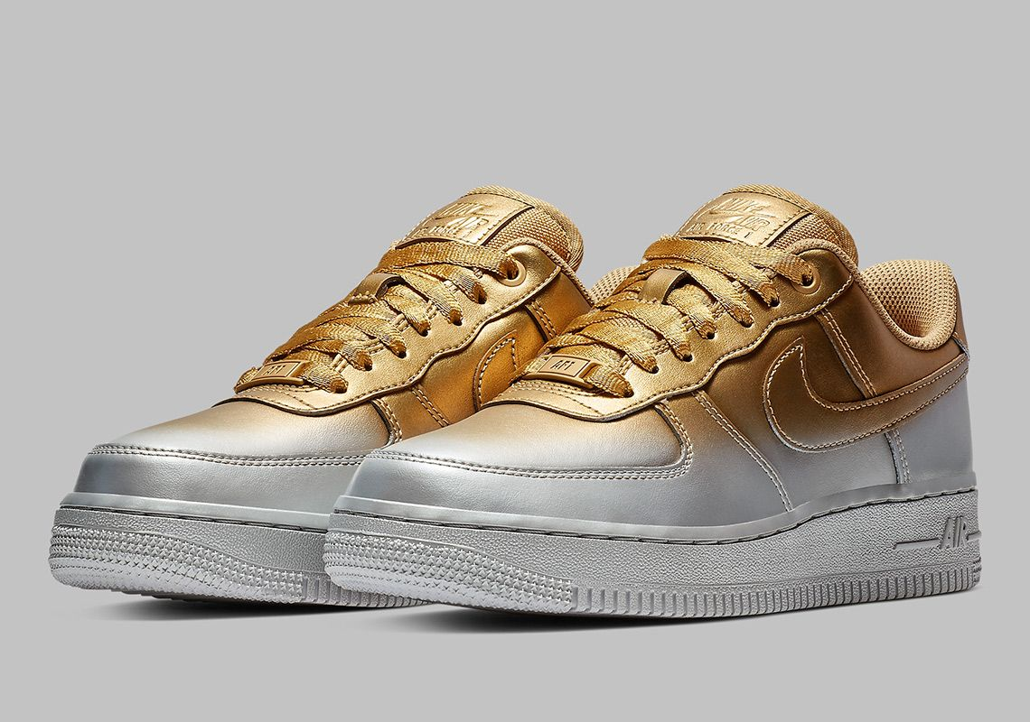 air force 1 uomo gold
