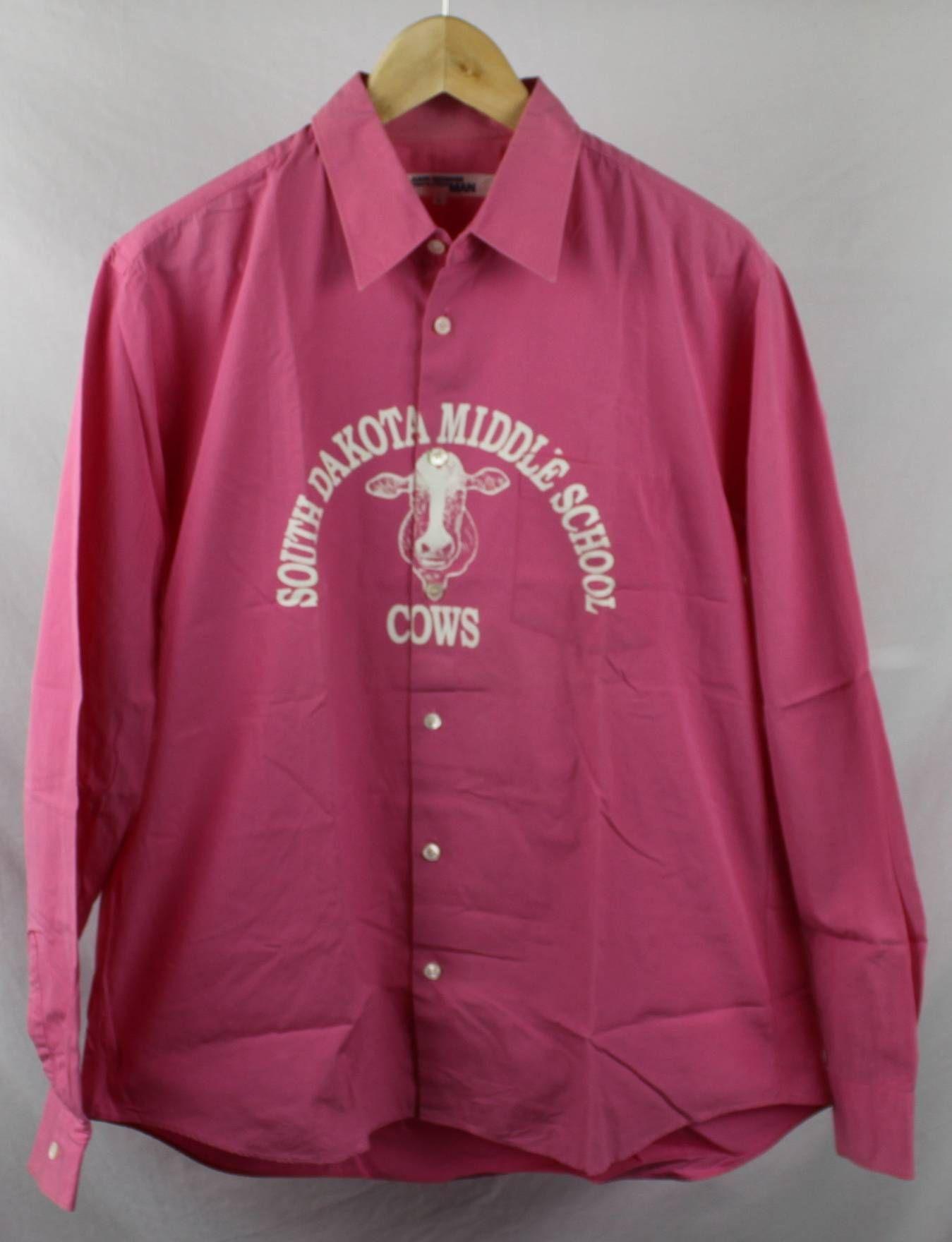 83c9d6d6284abb Junya Watanabe Pink South Dakota Middle School Cows Shirt Size US L   EU 52- 54   3
