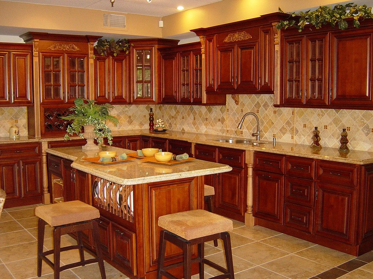Cherry Kitchen Cabinet Ideas Cherry Cabinet Kitchen  Light Cherry Cabinets Kitchen Pictures