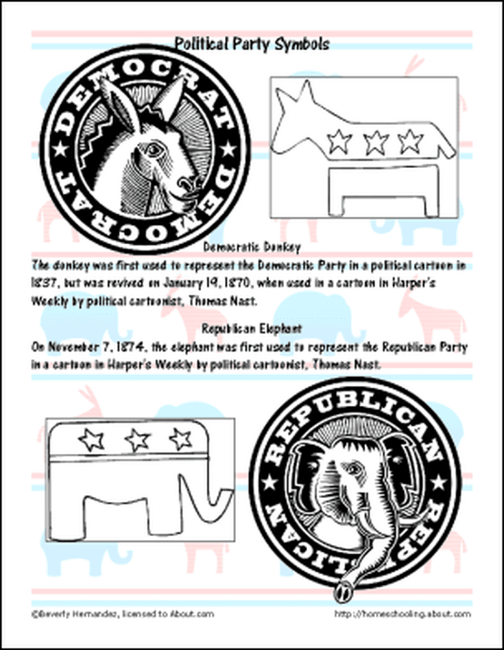 Hockey Mask Invented Coloring Page November Worksheets Political Party Symbols