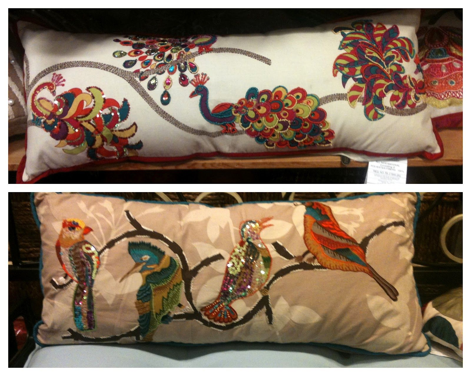 Pier 199 Peacocks and Beaded Birds Pillows | Pier 199 a store without ...
