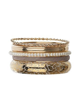 Eclectic Textured And Printed Mix Bangle Pack #Night