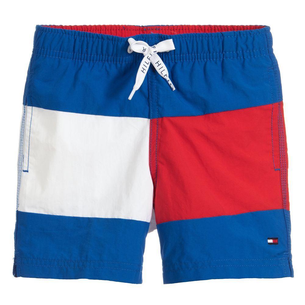 45669fcdf0 Boys Blue Swim Shorts for Boy by Tommy Hilfiger. | SWIMWEAR GIRLS ...