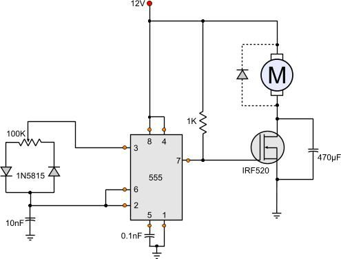 Linear Dc Motor Speed Controller Using A Simple Pwm Switching Mode Power Supply Motor Speed Circuit Diagram Circuit