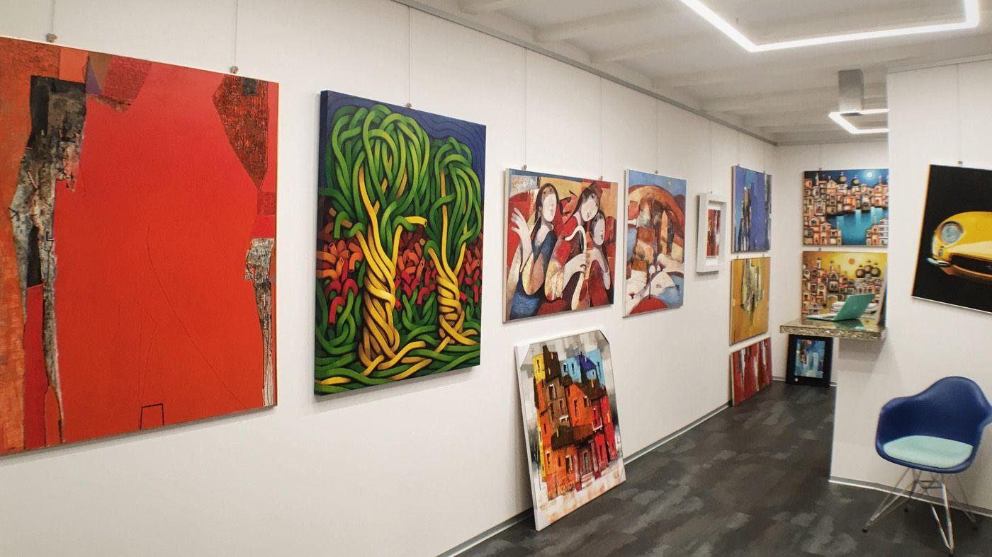fluidofiume quadri dipinti cornici Trieste