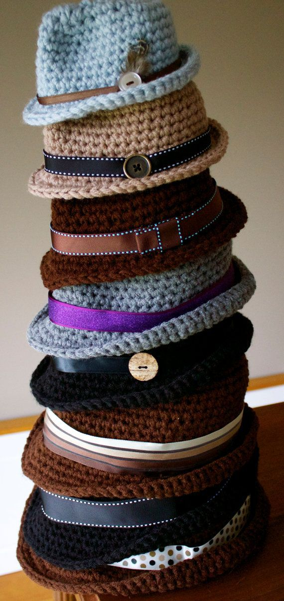 PDF Crochet Pattern Classic Fedora by kariodesigns on Etsy | Crochet ...
