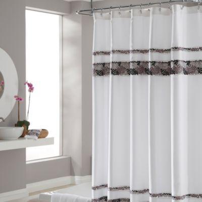 Croscill Reg Deco Bain Tile 70 Inch X 75 Inch Shower Curtain